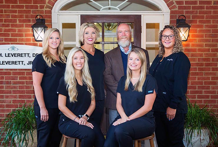dentists and staff of Leverett Dental
